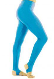 Crazy Chick Girls Shiny Turquoise Stirrup Leggings
