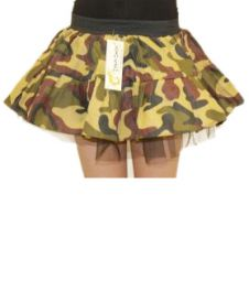 Crazy Chick Girls Single Layer Camouflage TuTu Skirt