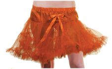 Crazy Chick Girls Orange Layered Ruffle Petticoat TUTU Skirt