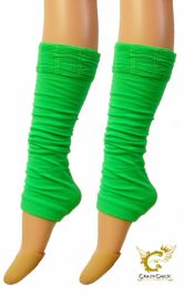 Crazy Chick Green Ruched Top Leg Warmer