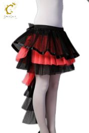 Crazy Chick Long Tail Black Pink Burlesque TuTu Skirt