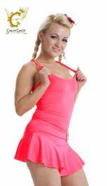 Crazy Chick Microfiber Neon Pink Vest Top