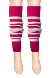 Crazy Chick Pink & White Stripe Leg Warmer