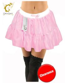 Crazy Chick Plain Satin Baby Pink TUTU Skirt
