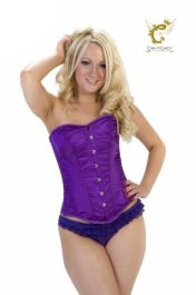 Crazy Chick Purple Full Burst Corset