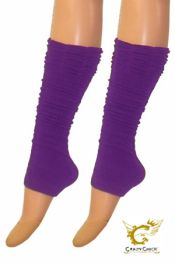 Crazy Chick Purple Ruched Top Leg Warmer