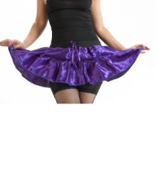 Crazy Chick Purple Satin TuTu Skirt