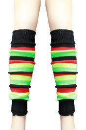 Crazy Chick Rasta Stripe Leg Warmer