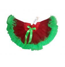 Crazy Chick Red & Green Christmas TuTu Skirt