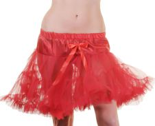 Crazy Chick Red Layered Ruffle Petticoat TUTU Skirt