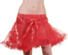 Crazy Chick Red Layered Ruffle Petticoat TUTU Skirt