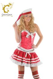 Crazy Chick Red Sailor Basque