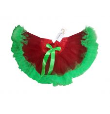 Crazy Chick Red & Green Girls TuTu Skirt