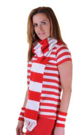 Crazy Chick Red White Scarf