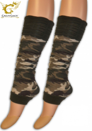Crazy Chick Ruched Top Camouflage Leg Warmer
