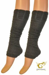 Crazy Chick Ruched Top Grey Leg Warmer