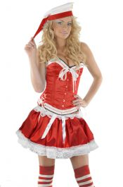 Crazy Chick Sexy 3 Layers Red Sailor TuTu Skirt