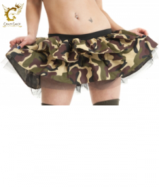 Crazy Chick Sexy Twin Layers Camouflage TuTu Skirt