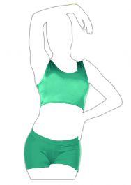 Crazy Chick Shiny Jade Green Tank Crop Top