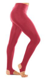 Crazy Chick Shiny Lycra Wine Stirrup Leggings