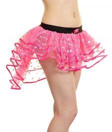 Crazy Chick Star Pink Burlesque TuTu Skirt