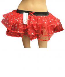 Crazy Chick Star Red Burlesque TuTu Skirt