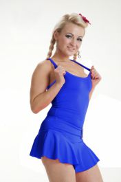 Crazy Chick Microfiber Royal Blue Vest Top