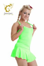 Crazy Chick Microfiber Neon Green Vest Top