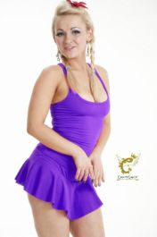 Crazy Chick Microfiber Purple Vest Top