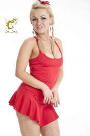 Crazy Chick Microfiber Red Vest Top