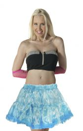 Crazy Chick Turquoise Organza TUTU Skirt