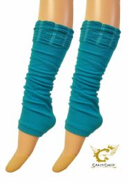 Crazy Chick Turquoise Ruched Top Leg Warmer