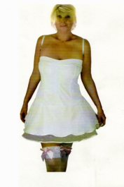 Crazy Chick White Angel Dress Costume