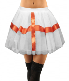Crazy Chick White England TuTu Skirt