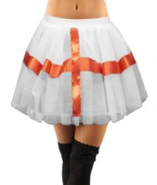 Crazy Chick White England TuTu Skirt