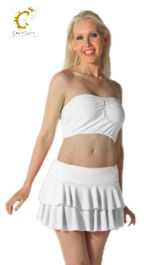 Crazy Chick White RARA Skirt