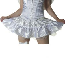 Crazy Chick White Satin TuTu Skirt