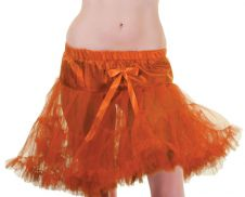 Crazy Chick Orange Layered Ruffle Petticoat TUTU Skirt