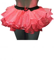 Crazy Chick Sequin Pink Burlesque TuTu Skirt