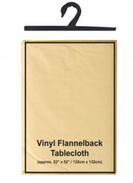 Cream Flannel Back Table Cover