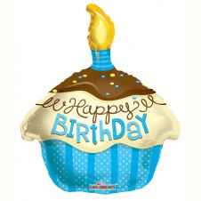 Cupcake Blue Balloon (18 Inches)