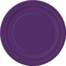 Deep Purple 9 Inches Plain Plates (Pack of 16)