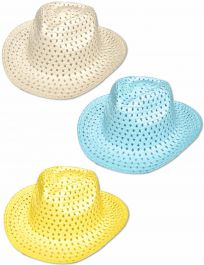 Easter Cowboy Hat Assorted Colours