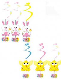 Easter Swirl Decorations Pack of 6