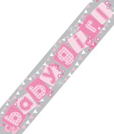 Extra Wide Baby Girl Banner