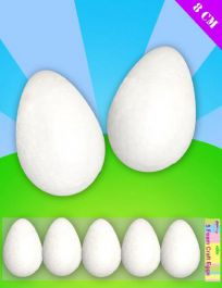 Foam Egg Decoration 8cm Pack of 5