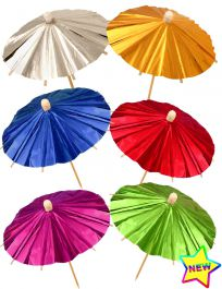 Foil Parasol Picks (Pack of 12)