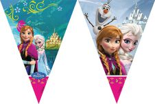 Frozen Triangle Flag Banner 9 Inches