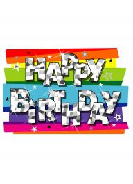 Funky Birthday Party Mobile Decoration (Pack of 3)