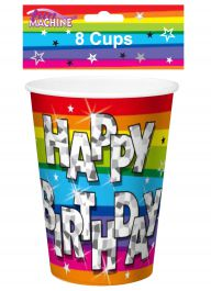 Funky Brithday Party Cups (Pack of 8)